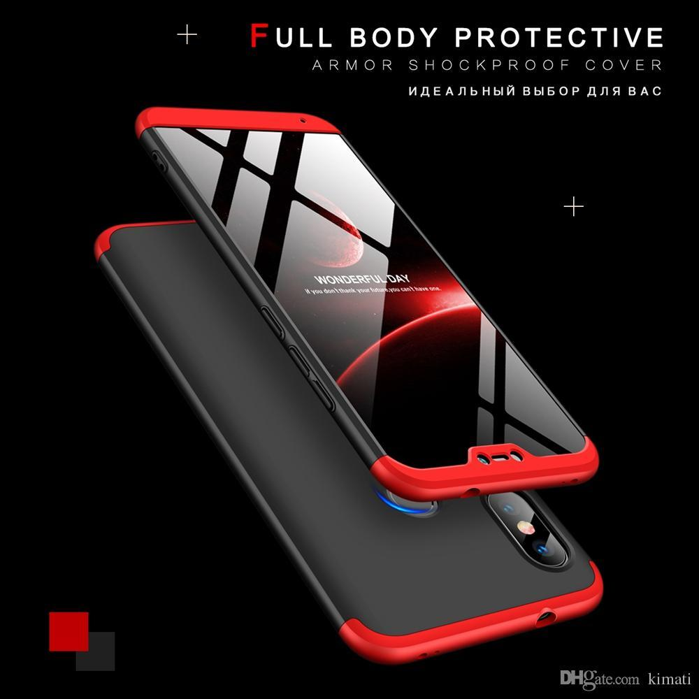 promo code 0d04e ebf75 Xiaomi Redmi Note 6 Pro - 360 Degree Full Protection Back Cover Red 'GKK....