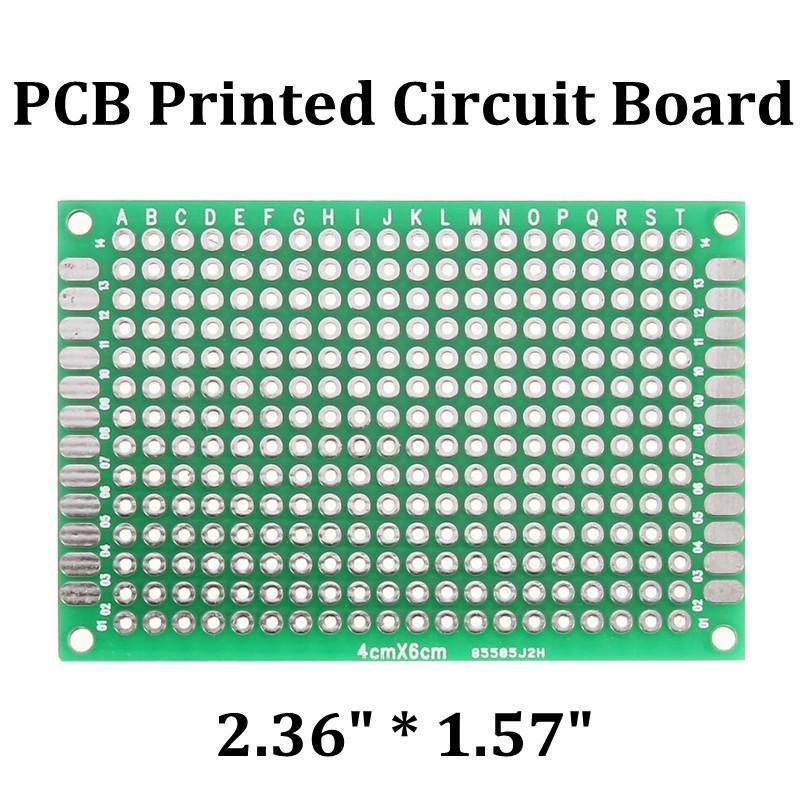 Double Side Prototype PCB Tinned Universal Breadboard 4x6 cm 40mmx60mm FR4