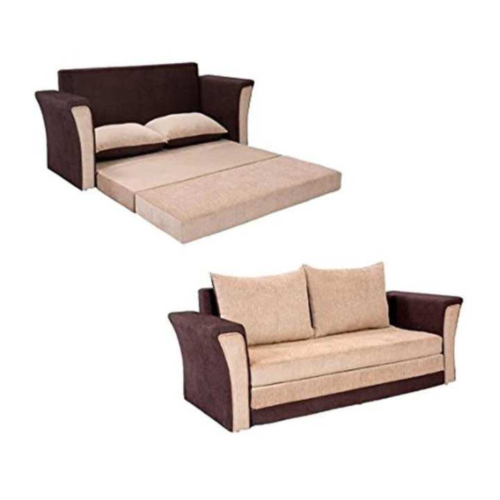 SA-321 -Sofa Cum Bed - Chocolate and Biscuit