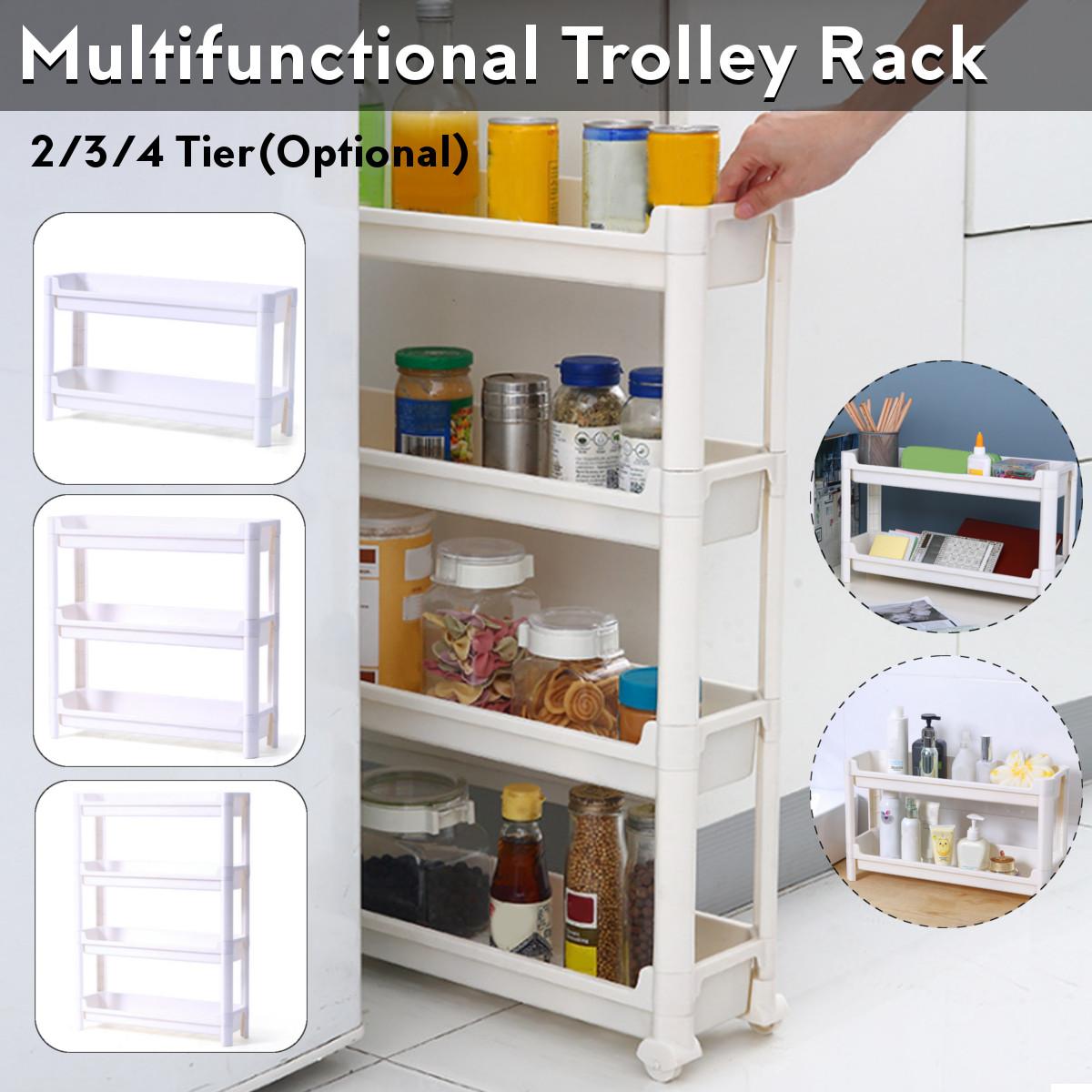 2 3 4 Tier Slim Slide Out Kitchen Trolley Rack Holder Storage Shelf Organiser With Wheels 4 Drawer Buy Online At Best Prices In Bangladesh Daraz Com Bd
