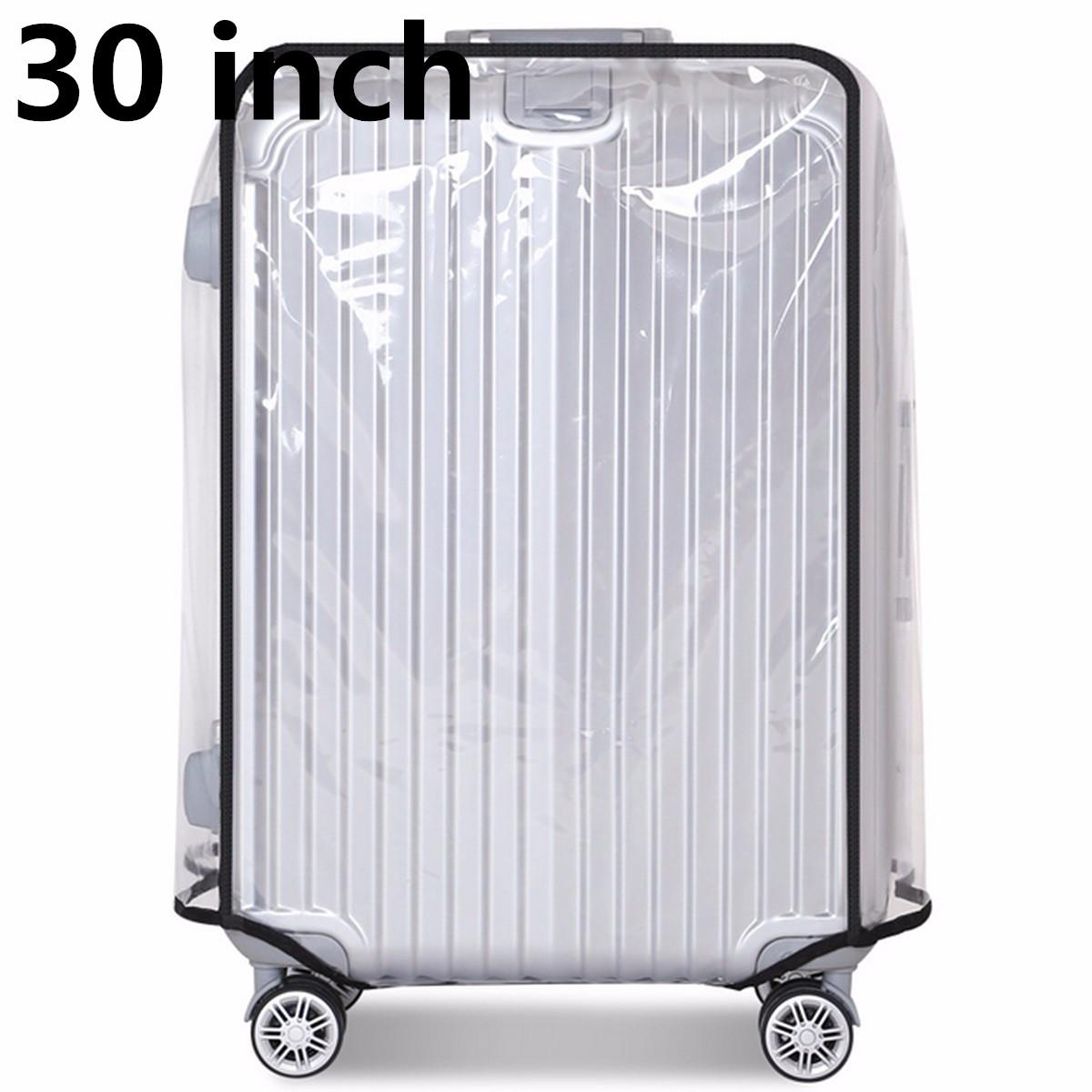 537e0a143 30inch PVC Transparent Travel Luggage Protector Suitcase Cover Usable  Waterproof fashionable #30inch