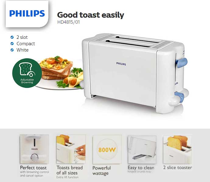 Philips Toaster HD4815/01: Buy Online at Best Prices in Bangladesh |  Daraz.com.bd