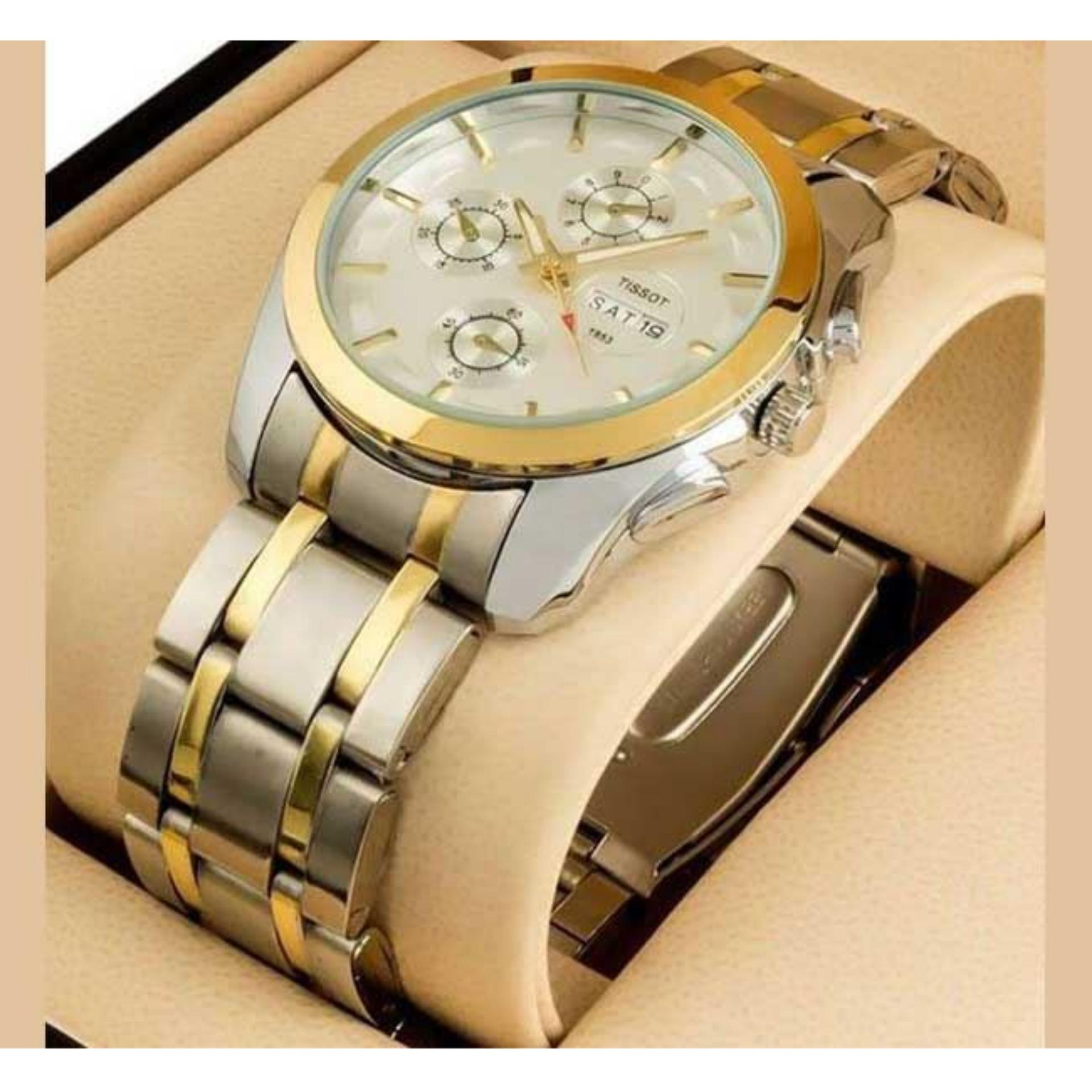 Stainless Steel  Watch for Men-Silver and Golden