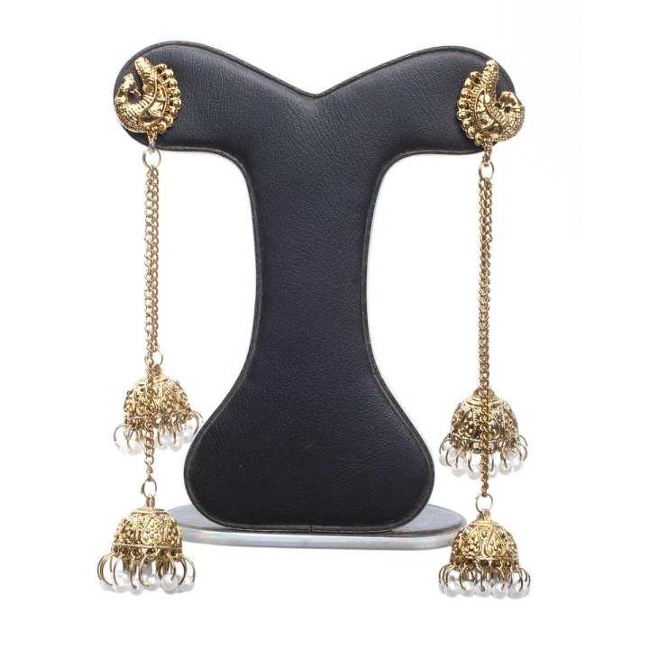 Golden Alloy Ear Ring for Women