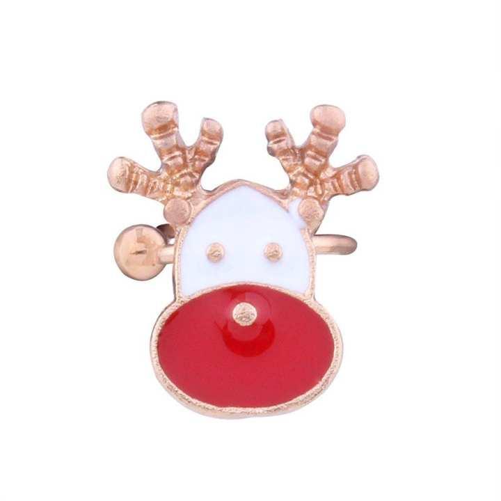 UR Christmas ear cuff clip on earrings santa earcuff clip  without piercing