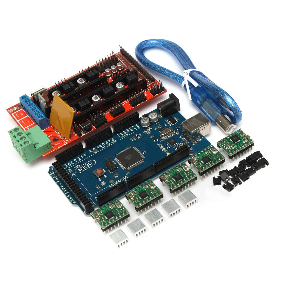 A4988 with Heat Sink USB Calbe Jumper Kit Electronic Projects MEGA2560 R3 3D Printer RAMPS 1.4 Controller