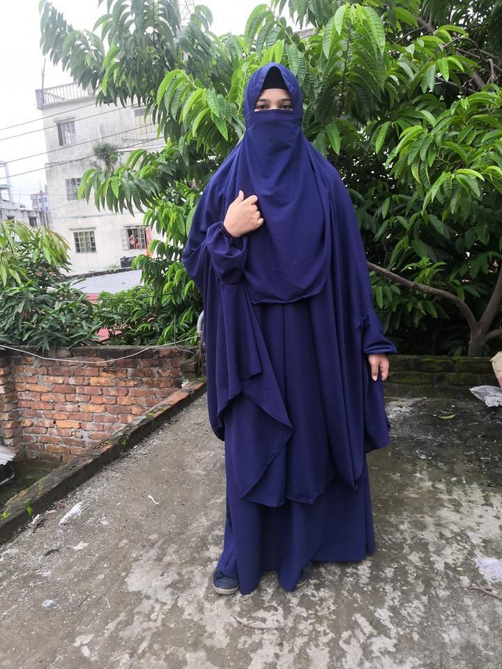 Blue Khimar Abaya Borka Borkha Brka Islamic Dress Khimar Set 4000 Buy Online At Best Prices In Bangladesh Daraz Com Bd