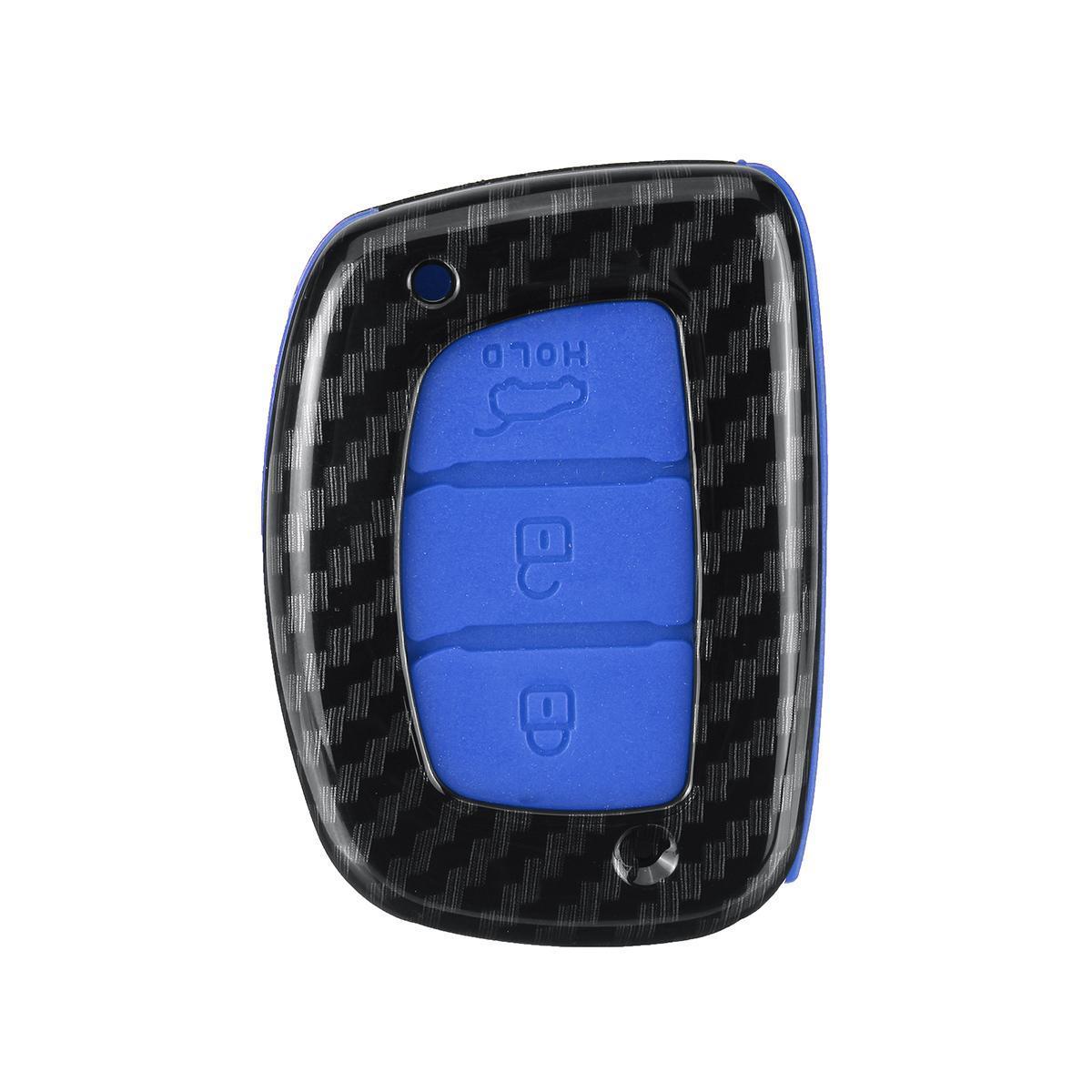3 Buttons Silicone Key Fob Cover Case For Hyundai i30 IX35 Elantra Verna  Tucson #Blue