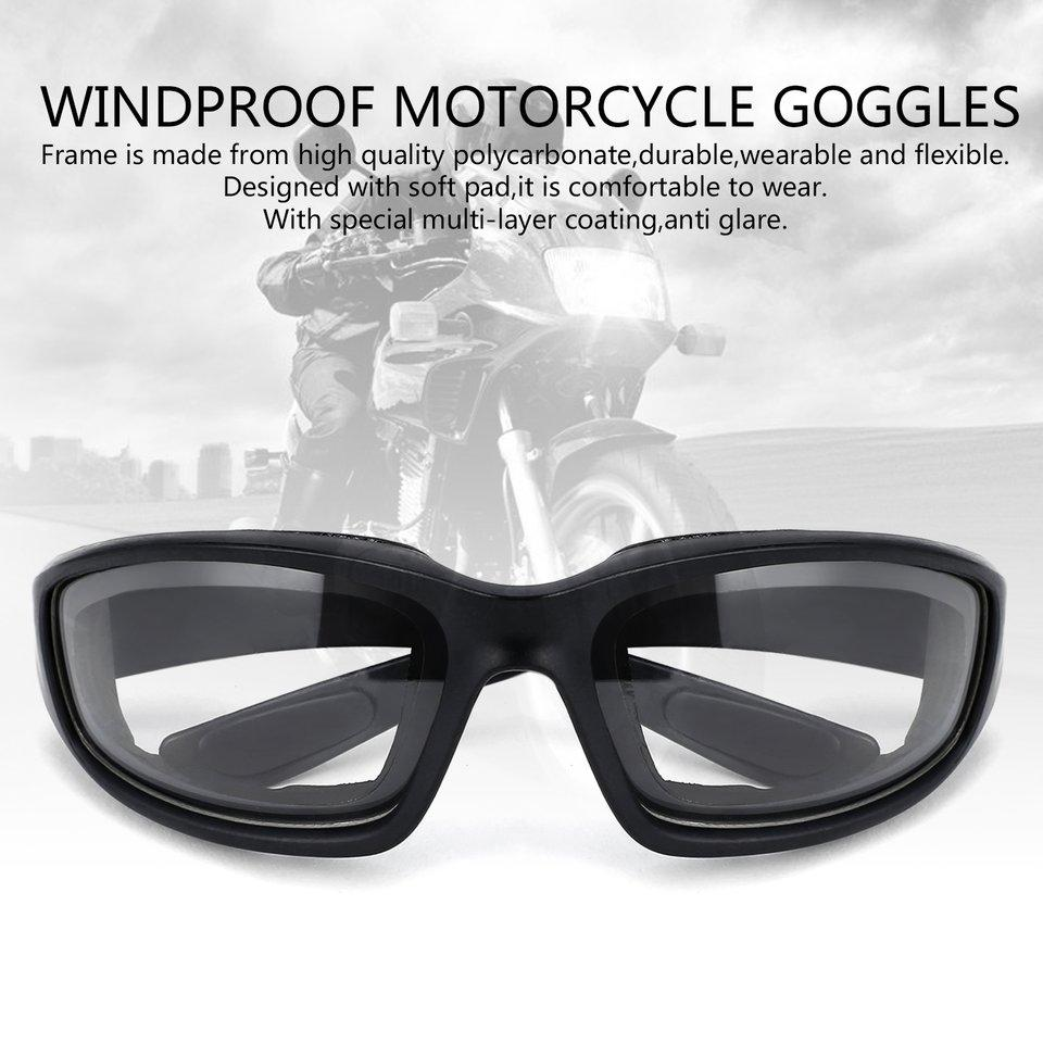 Motorcycle Bicycle Bike Glasses Airsoft Eye Protection Windproof Dustproof Day Night UV400