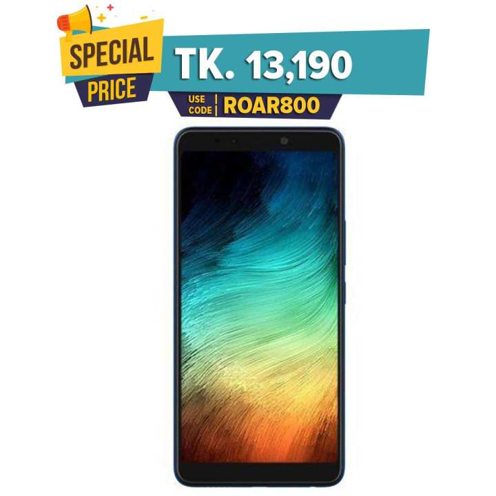 "Infnix Note 5 X604 - Smartphone - 6"" - 3GB RAM – 32GB ROM - 16MP + 12MP Camera – Ice Blue"