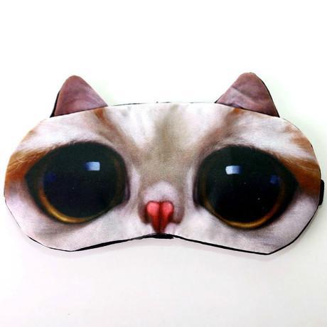 Funny sleep sleeping cat eye mask ice pack light cold air