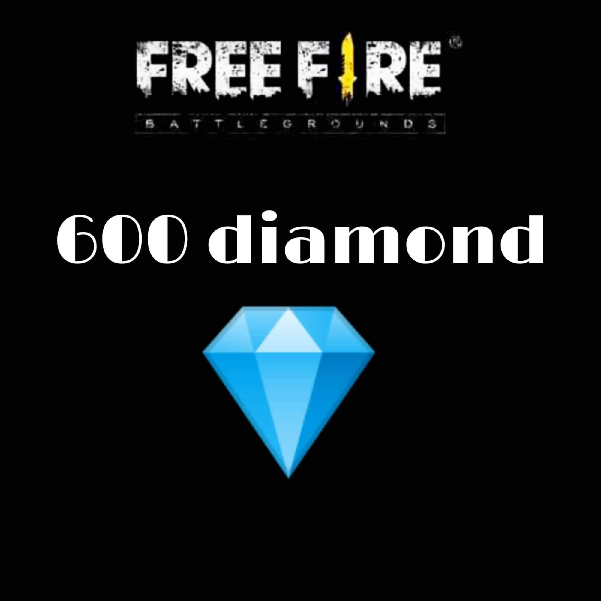 Garena FREE FIRE 600 Diamond Top Up