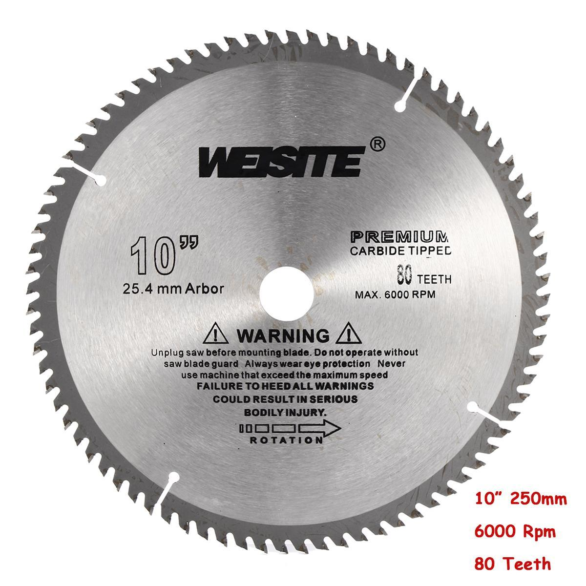 10 inch 80T Circular Saw Blade Carbide Tipped Alloy Wood Timber Cutting  250mm Woodworking Cutter