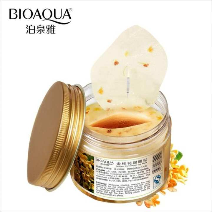 BIOAQUA Gold Osmanthus Eye Mask for Eye Care 80pcs Anti-Puffiness Moisturizing Sleeping Patche Remover Dark Circles Eye Patches