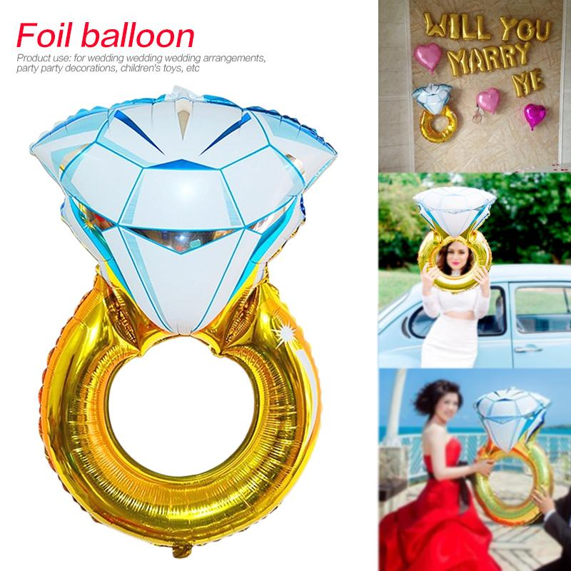 30 Inch Oversized Aluminum Foil Balloon Diamond Ring Dedicated For Marriage  Proposal Party Decoration Wedding Decor
