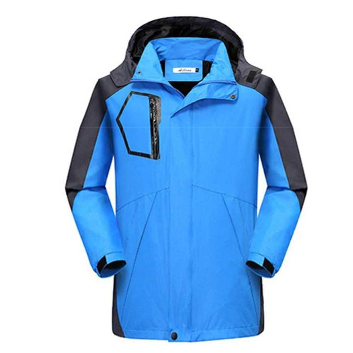 Men Waterproof Hooded Jacket Outdoor Sports Long Sleeve Coat Windproof Hoody Tops L-2XL