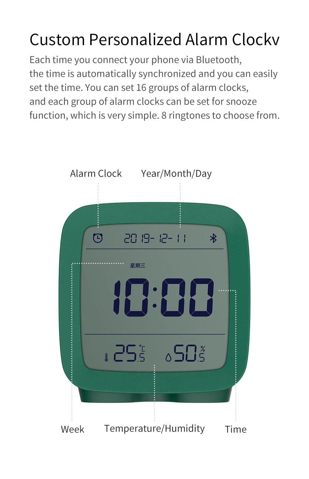 Xiaomi Youpin Qingping Mijia Bluetooth Alarm Clock Alarm Clock Temperature 4