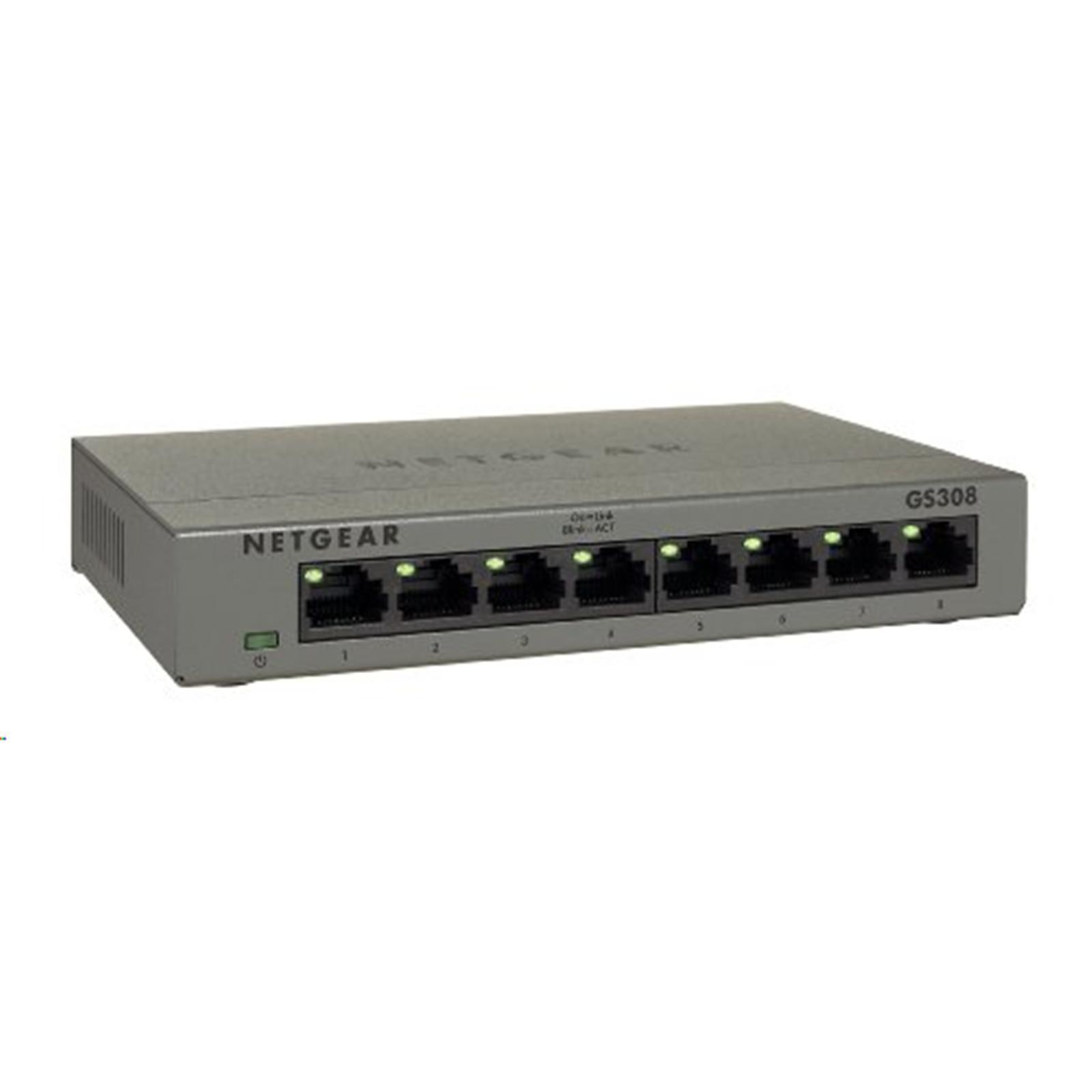 NETGEAR 8-Port Gigabit Ethernet Switch GS308