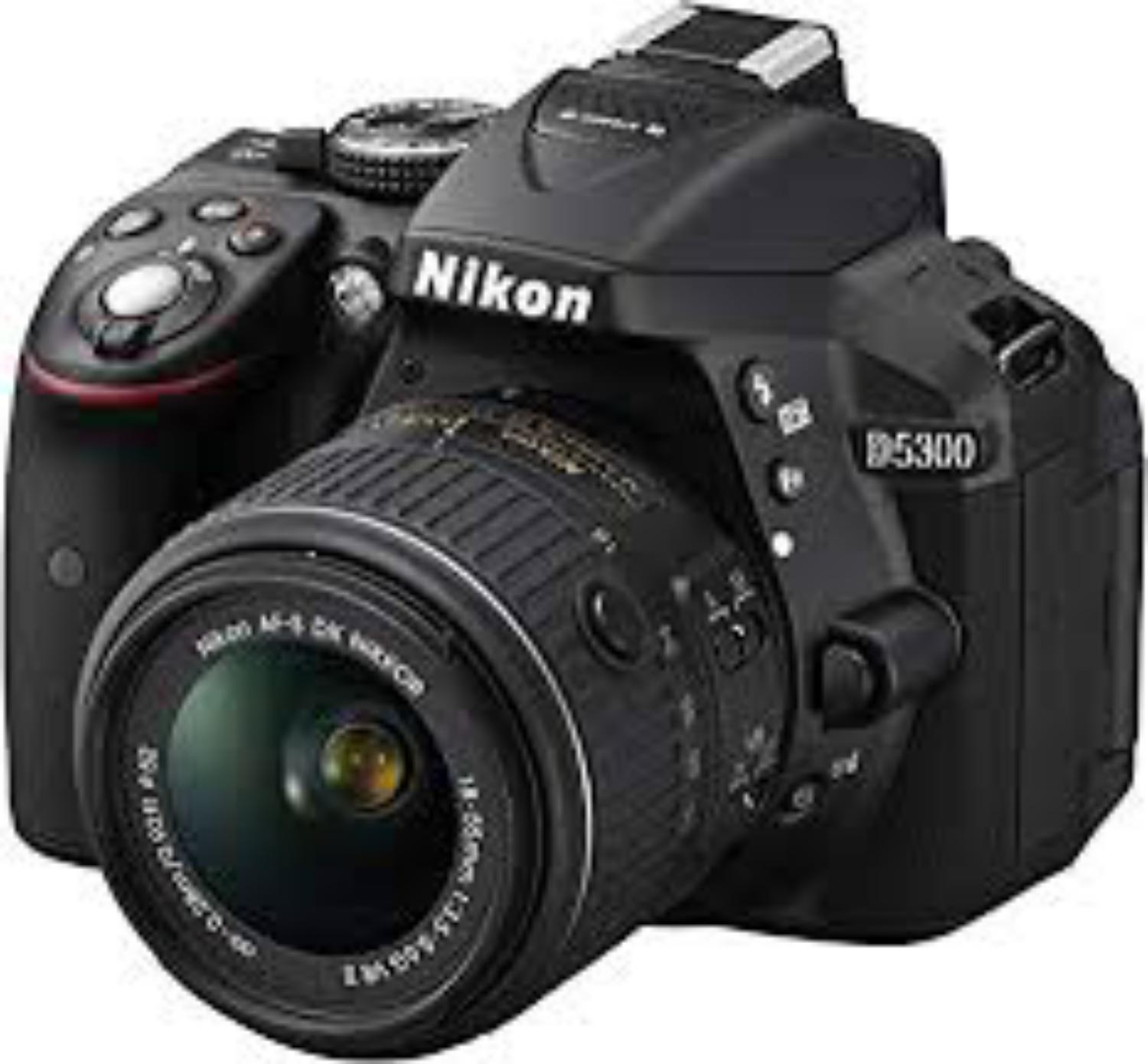 D5300 24 2 MP CMOS Digital SLR Camera with 18-55mm f/3 5-5 6G ED VR II AF-S  DX NIKKOR Zoom Lens - Black