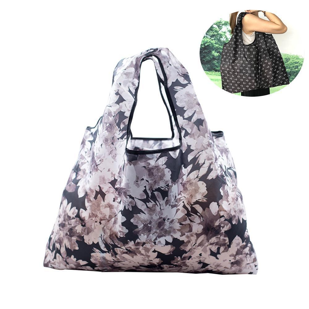 d2cfd579ed4e folding portable green tote bag waterproof Oxford cloth large capacity  storage shopping bags