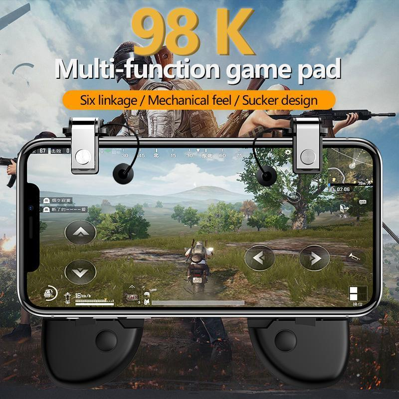 Redcolourful PUBG Mobile Game Controller Gamepad Trigger Aim Button L1R1  Shooter Joystick for iPhone Android Phone Game Pad Accesorios