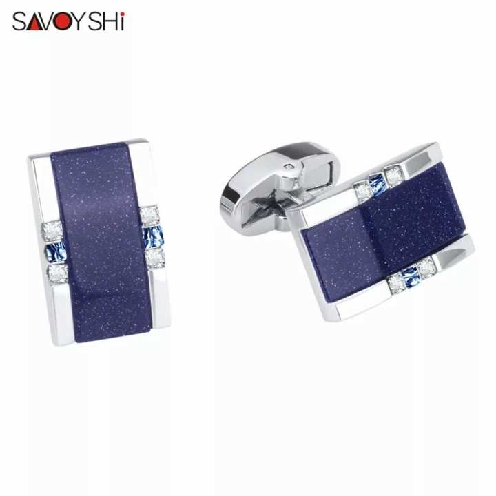 SAVOYSHI Low-key Luxury Star Stone Cufflinks for Mens