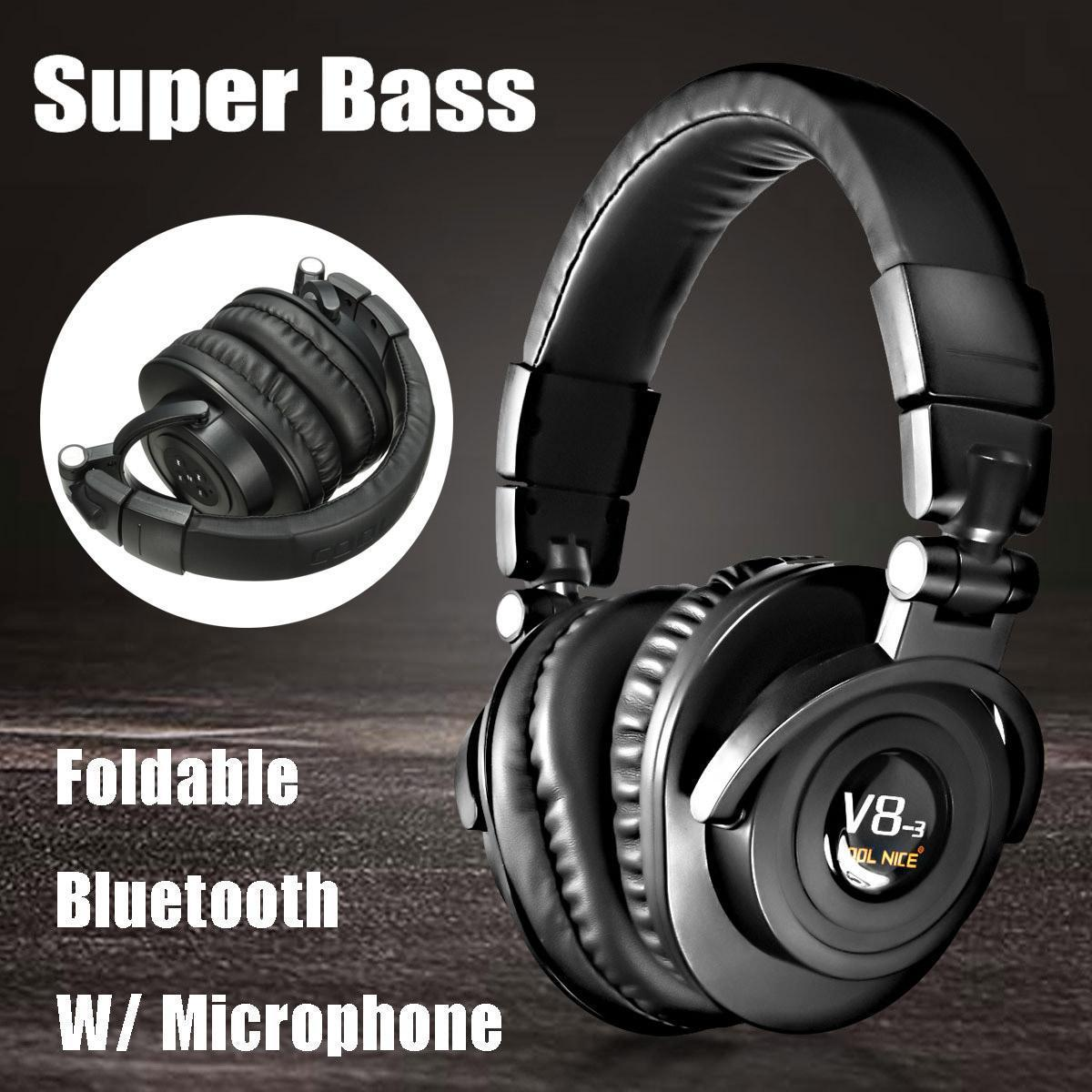 b0e91e1e866 USB Foldable Wireless Bluetooth 4.0 Super Bass Stereo Headphone Headset  Handfree Black/Brown