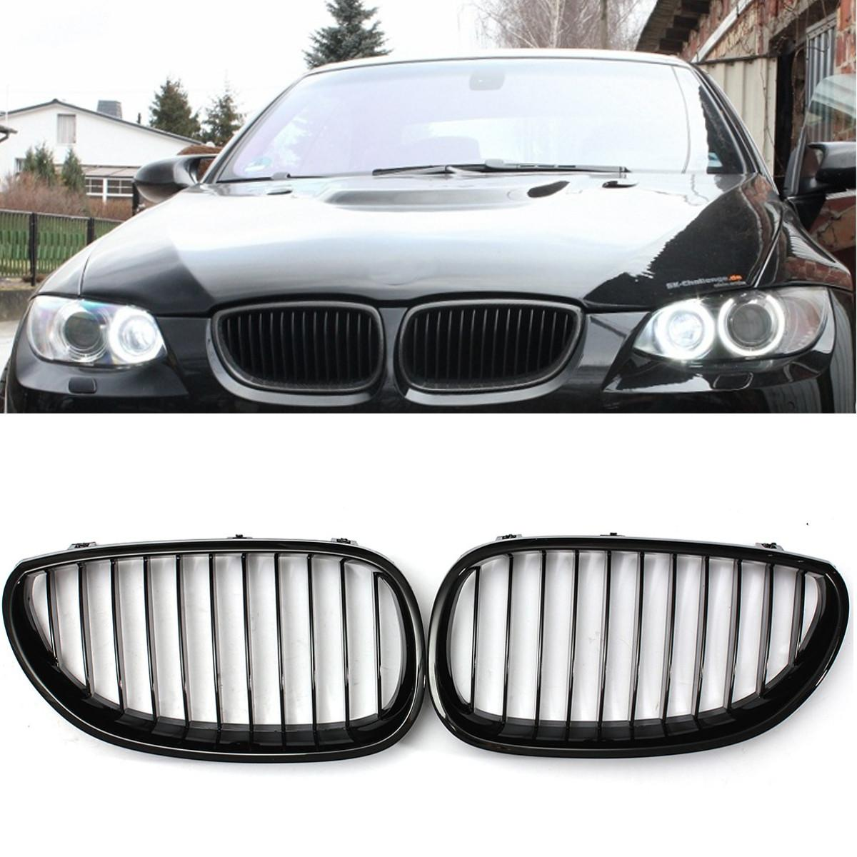 Air Intake Gloss Black Kidney Grille Grill For BMW E60 E61 5-Series 2003-2010 ^