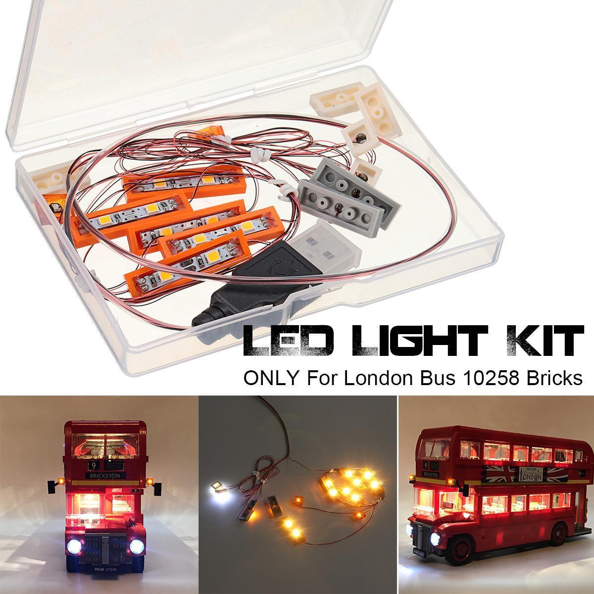 LED Light Lighting Kit ONLY For Lego London Bus 10258 Toy Bricks Building