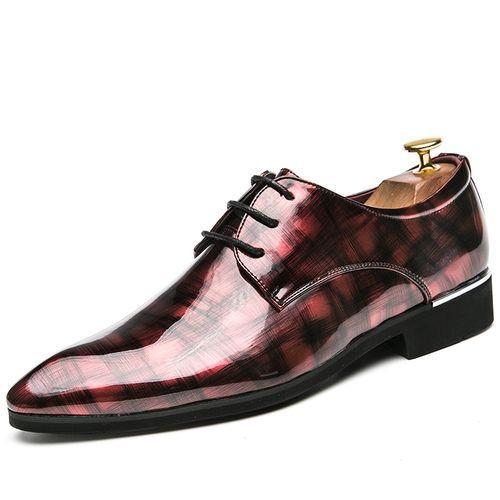505c19d74a19 New Fashion Men Casual Shoes Sequins Genuine Leather Formal Shoes (Black)