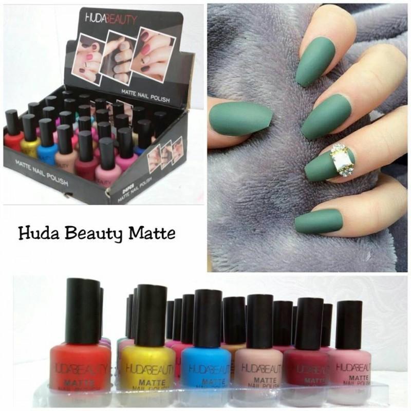 Huda Beauty Matte Nail Polishes Tray (Pack Of 24): Buy Online at ...