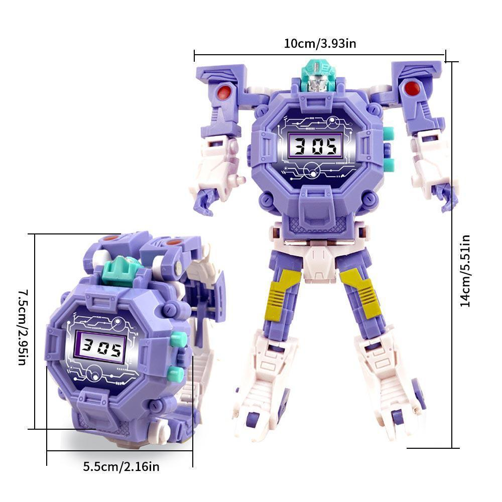 2 in 1 Transform Toy Robot Watch, Kids Digital Electronic Watch Deformation  Robot Toys for 3-12 Years Old Boys Girls - Creative Educational Learning