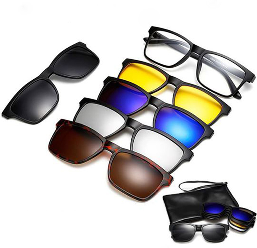 6 in 1 Magnetic Sunglasses: Buy Online at Best Prices in Bangladesh |  Daraz.com.bd