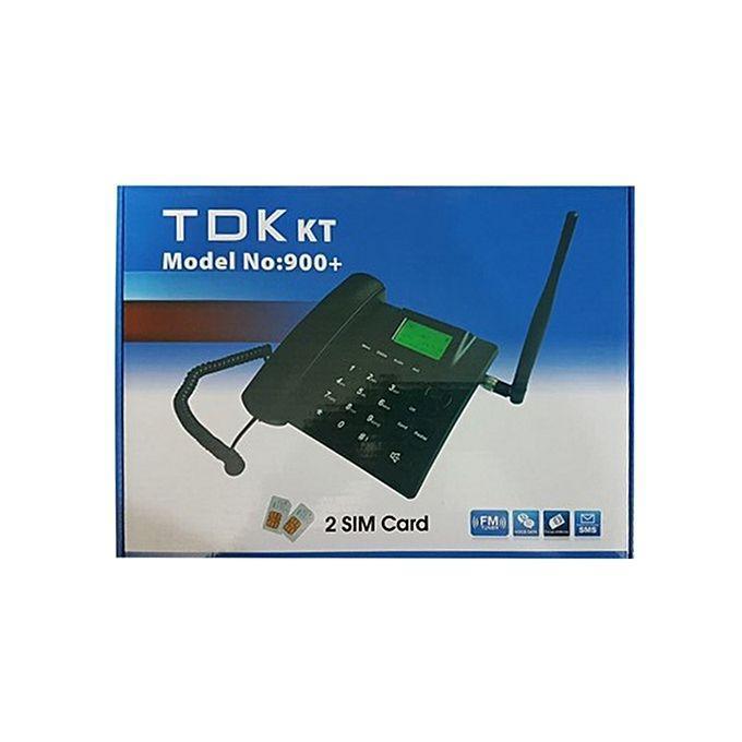 TDK Dual SIM GSM Desk Phone 900 + - White and Black