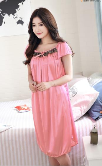 91fbd7d8c159 Beautiful Female Night Dress for Honeymoon Lady Night Wear Adult Sleep  Lounge Woman Nighty Sexy Wear
