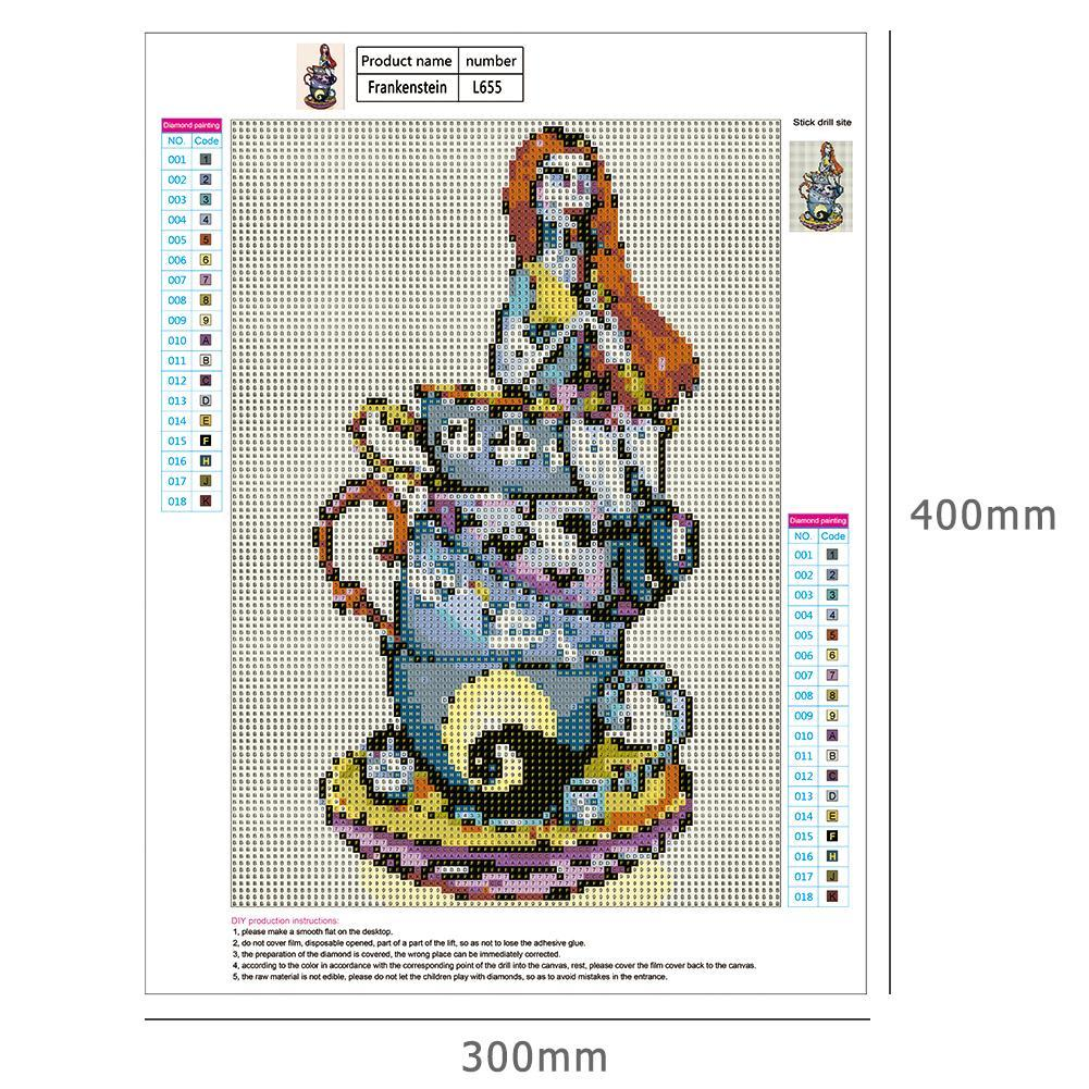 5D DIY Full Drill Diamond Painting Cups Evil Girl Stitch Embroidery Mosaic