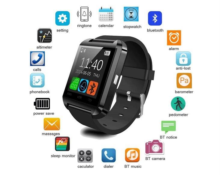 U8 Bluetooth Smart Watch Wrist Watch- U8 Smart Watch For Android OS And IOS