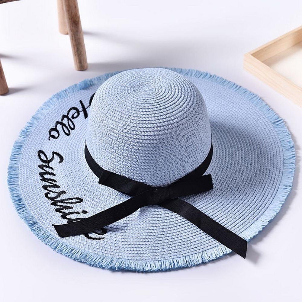 c4462122e Womens Beach Sun Straw Hat UV UPF50 Travel Foldable Wide Brim Summer UV Hat