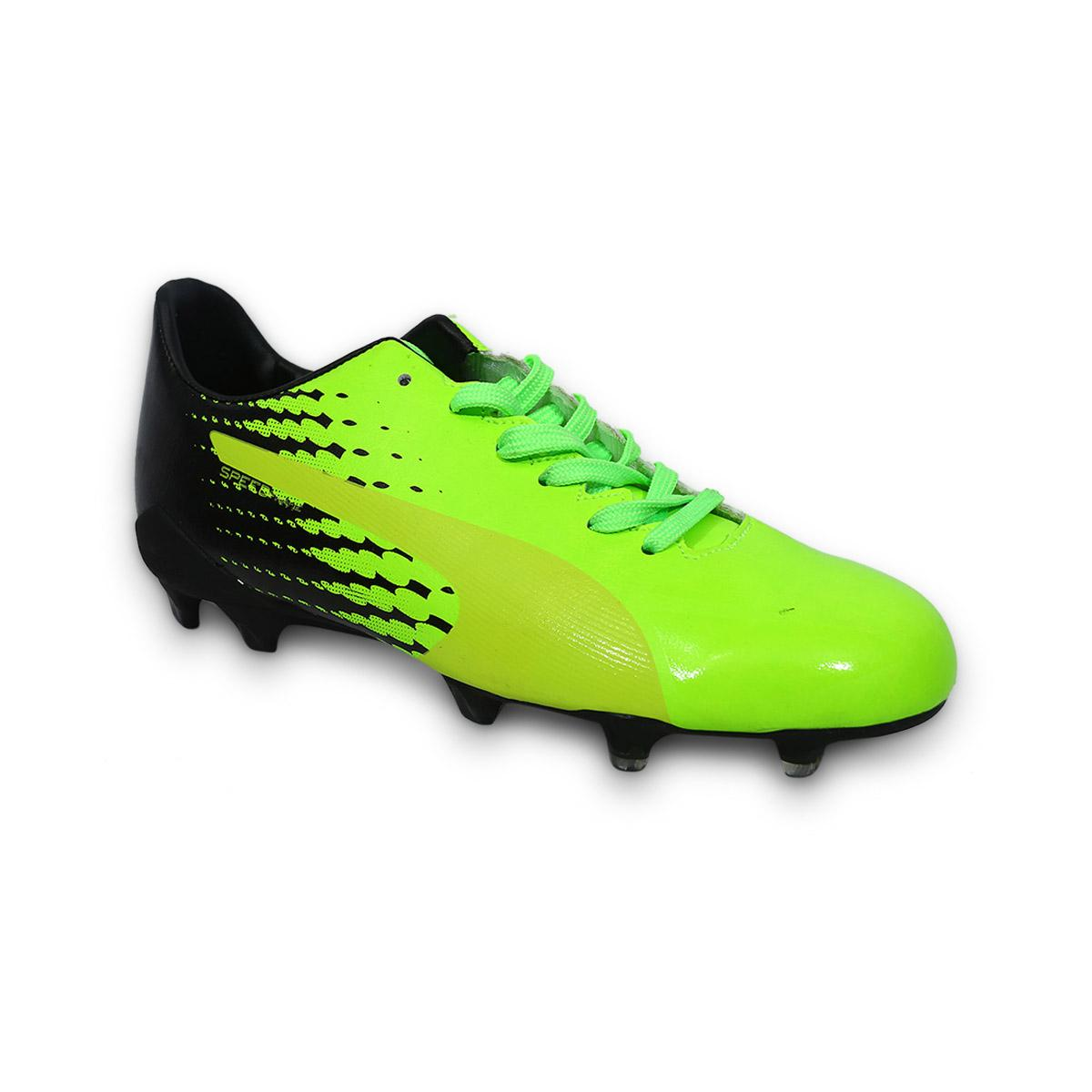 2ab40e99d509 Green and Black PU Rubber Football Boot For Men: Buy Online at Best ...