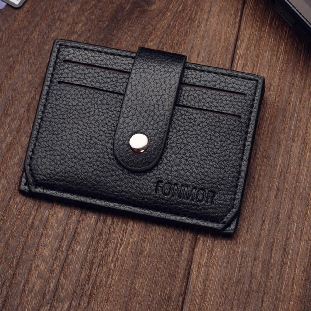 06f44fa6a1bb New Neutral Short Leather Passport Card Holder Clutch Bag Wallet Student Bag