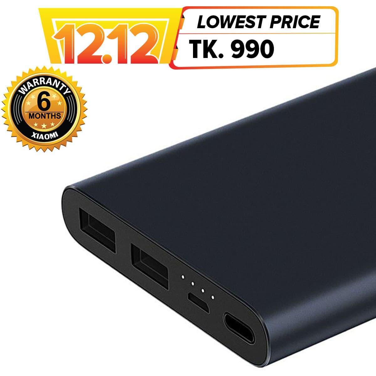 Power Bank Price In Bangladesh Mobile At Oldi Powerbank 12000mah Mi 10000mah 2s Dual Output Global Version Black