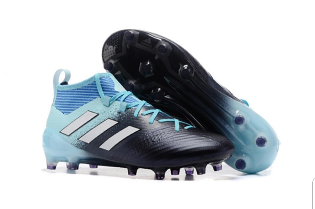 Light Sky Blue PU Rubber Football Boot