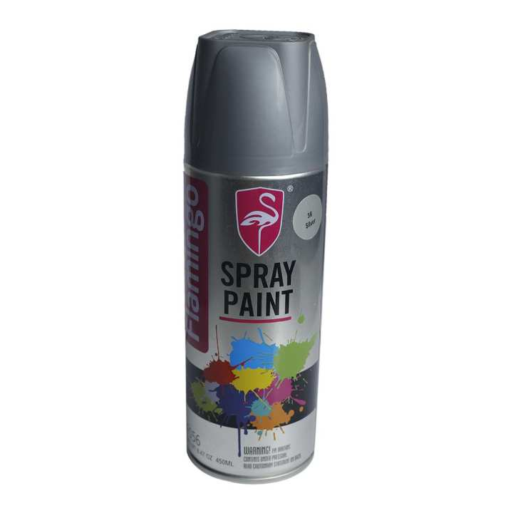 Flamingo Dashboard Motorcycle Paint Silver - 450 ML