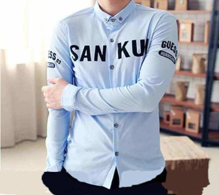 Blue Sunkui Stylish Causal Shirt