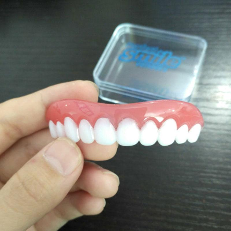 Teeth Perfect Instant Smile Veneers Secure Comfort Fit Top False Dental  2017 New