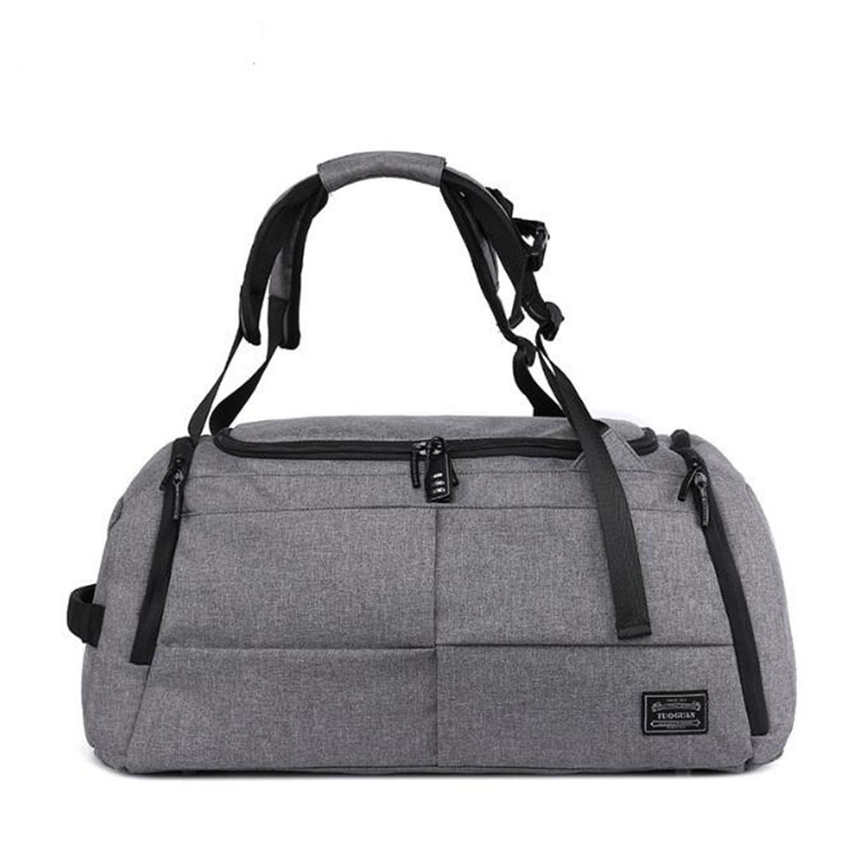 a7c02738a6 Men Women Luggage Travel Bag Satchel Shoulder Gym Sports Bag Duffel Handbag  #grey