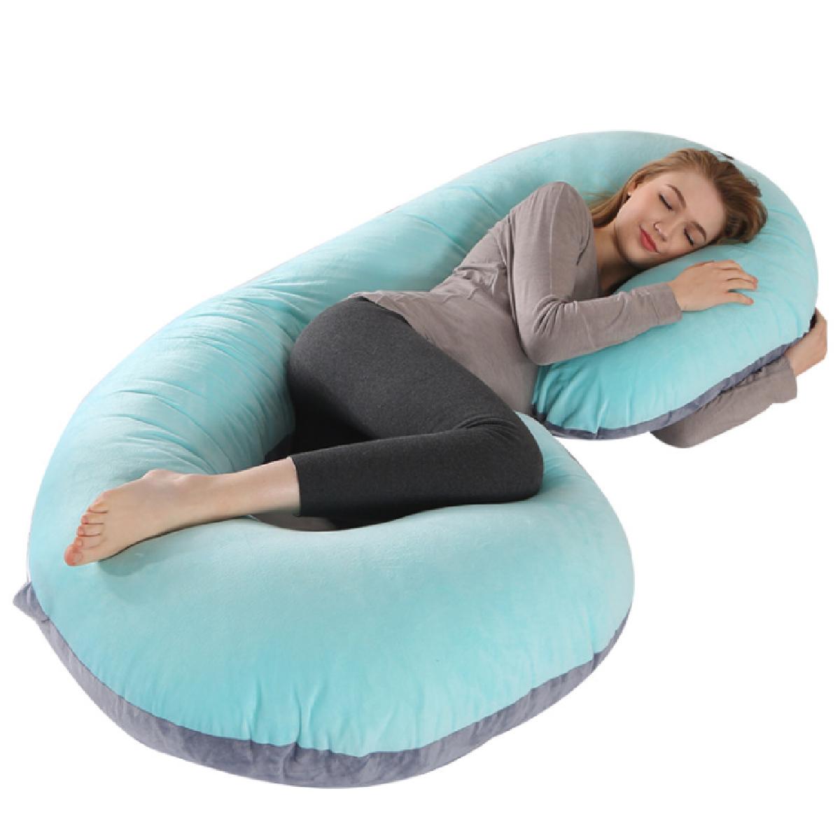 full body pregnancy pillow c shaped bedding body pillow maternity pillow for pregnant blue