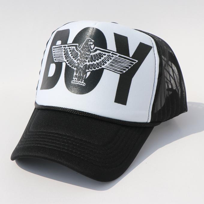 Boy Black And White Logo Adjustable Baseball Cap
