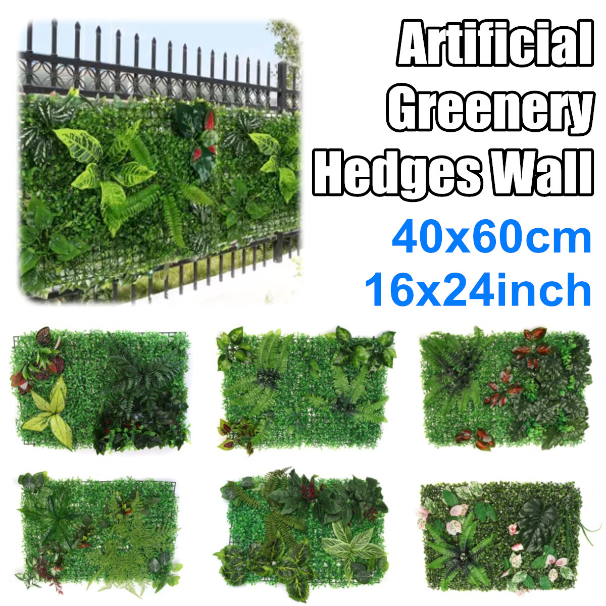 Artificial Topiary Hedges Panels Garden Fence Green Wall Backdrop Decor 40x60cm Pattern 1 Buy Online At Best Prices In Bangladesh Daraz Com Bd