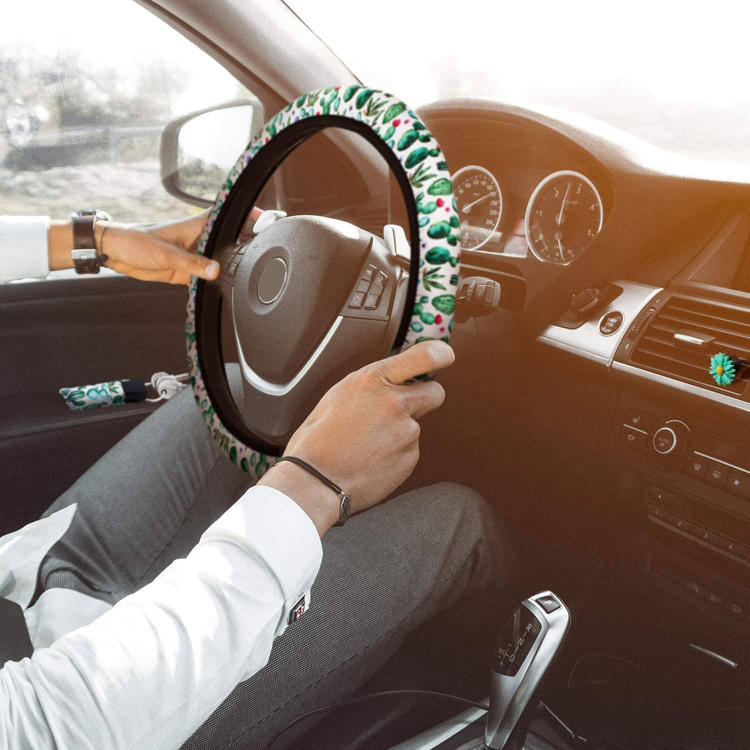 Cactus Car Accessories Set Cactus Steering Wheel Cover Cute Cactus Key Chains Cactus Car Seat Belt Pads Cover Buy Online At Best Prices In Bangladesh Daraz Com Bd